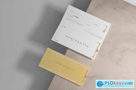 Bi-Fold Horizontal Brochure Mockups 4756845