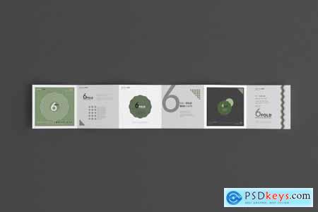 Six Fold Square Brochure Mockups 4718114