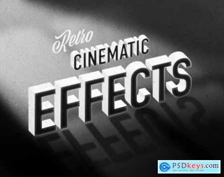 Old Vintage Hollywood Movie Title Text Effect 336471189