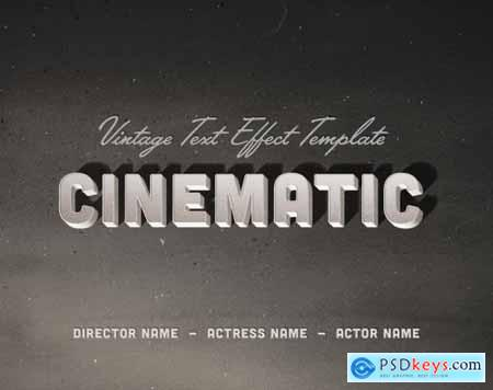 Vintage Old Movie Title Text Effect 336519580