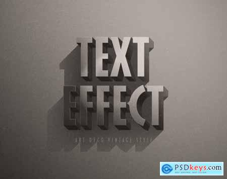 Retro Vintage Hollywood Film Title Text Effect 336471779