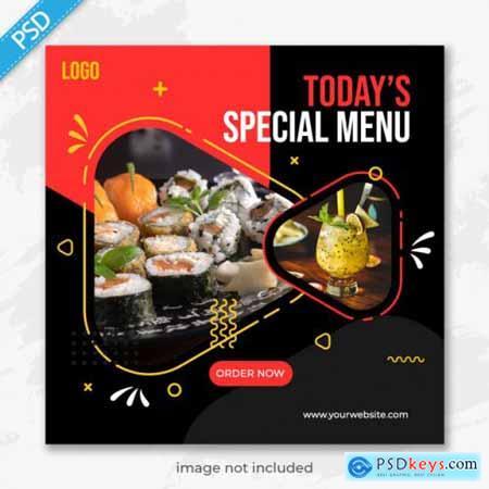 Food restaurant for social media instagram post banner865
