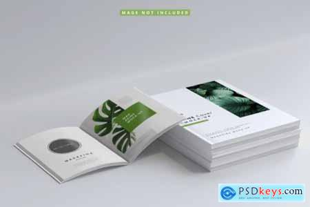 Magazine cover and inner pages mockups