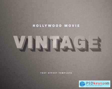 Vintage Old Hollywood Movie Title Text Effect 336472849