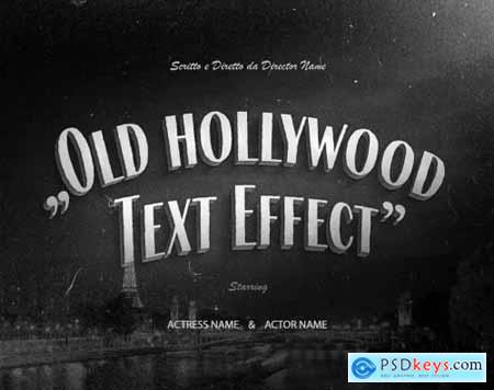 Retro Vintage Hollywood Movie Title Text Effect 336471815
