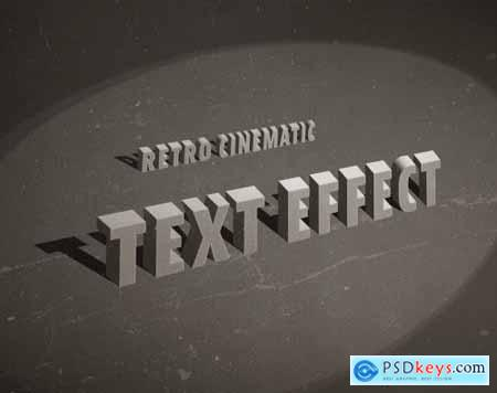 Vintage Old Movie Title Text Effect 336473624