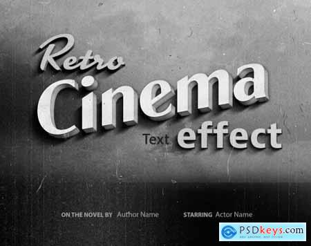 Old Vintage Hollywood Film Title Text Effect 336468357