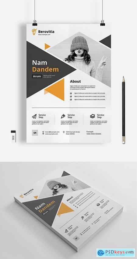 Triangle Business Flyer Layout 333227183