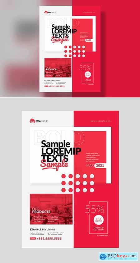 Corporate Red Event Flyer Layout 302490776