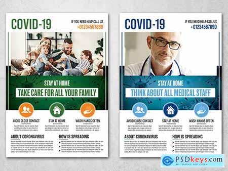 Coronavirus Flyer Layout 334809782