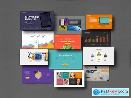 Presentation Showcase Mockup Set 329871143