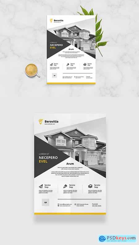 Business Flyer Layout with Orange Accents 333294129