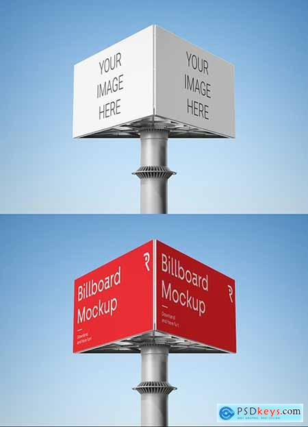 Triple Billboard Mockup 336172801