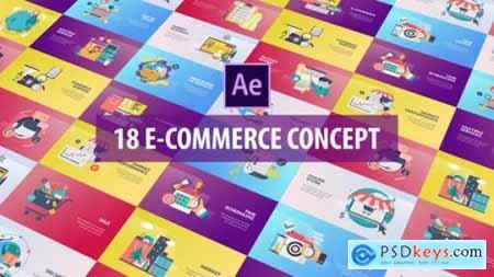 E-Commerce Concept Flat Animation 26282336