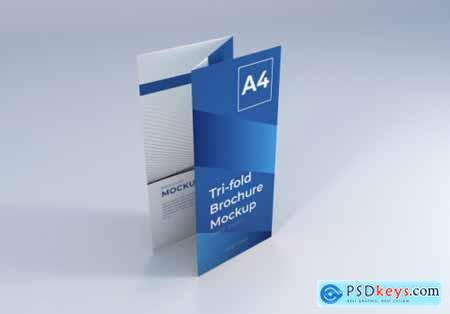Realistic a4 trifold brochure mockup 2