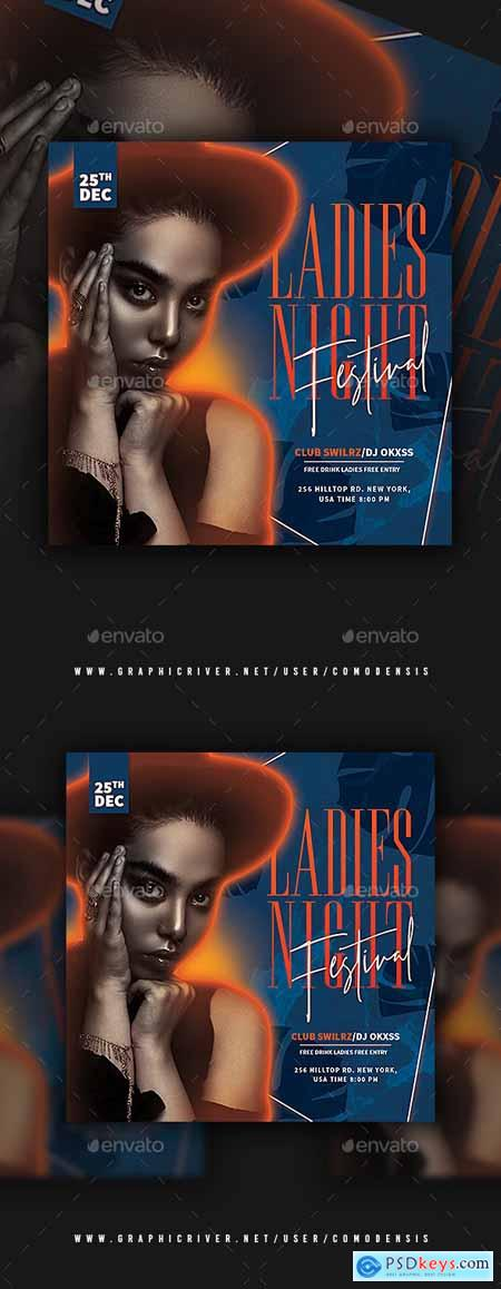 Ladies Night Party Flyer Templates 25775738