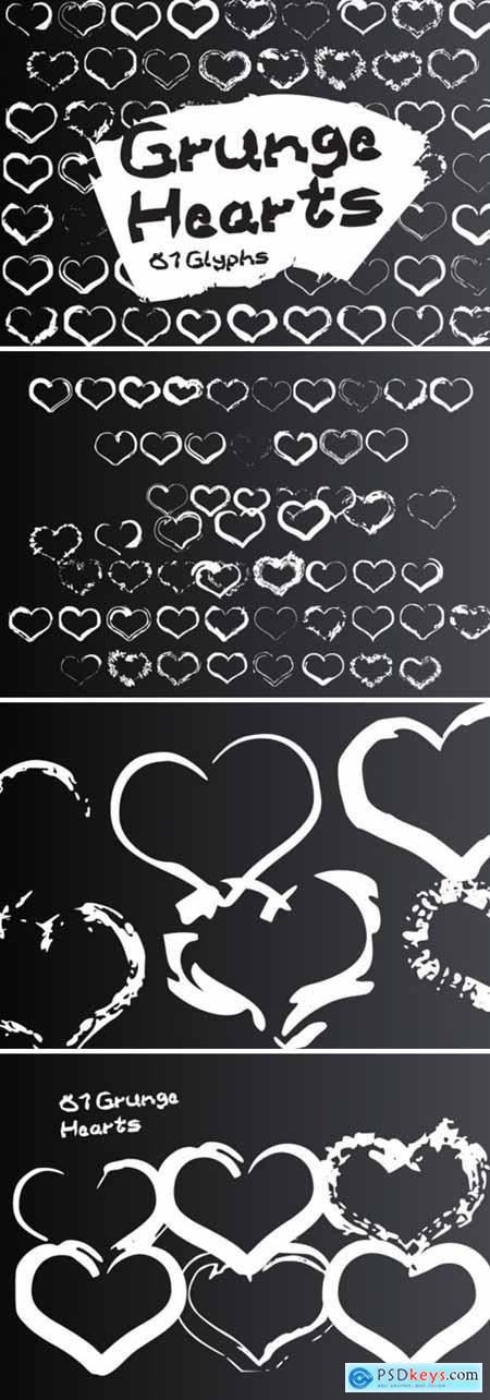 Grunge Hearts Font