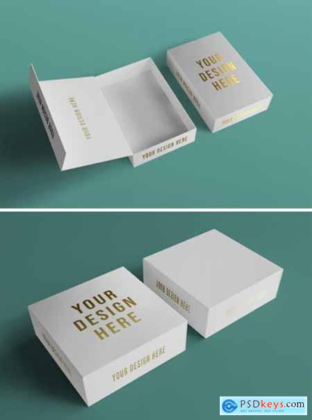 Luxury Gold Foil Box Packaging Mockup