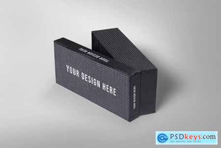 Small Black Box Packaging Mockup 3827232