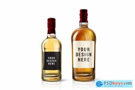 Wine Bottle Mockup Template
