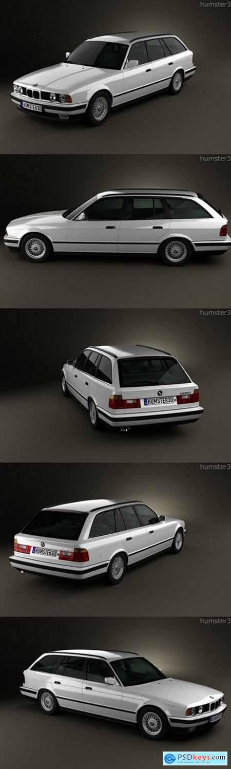 BMW 5 Series touring 1993 3D Model