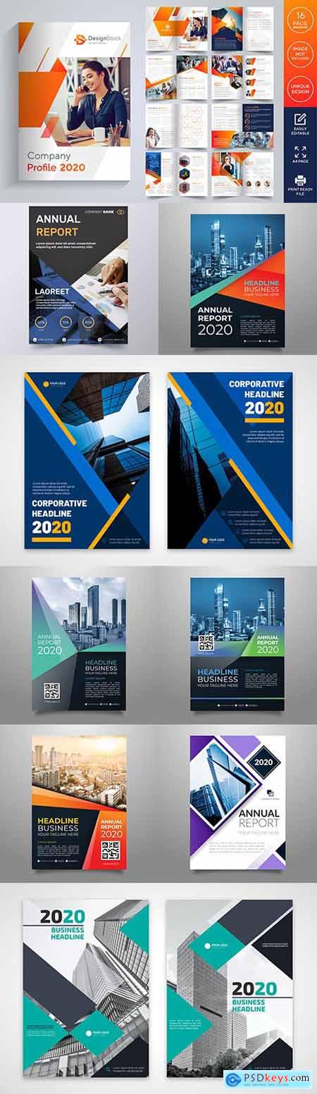 Business brochure and corporate design template