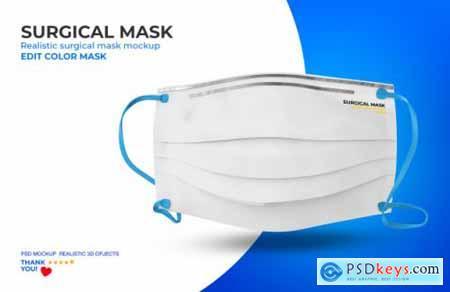 Surgical mask mockup