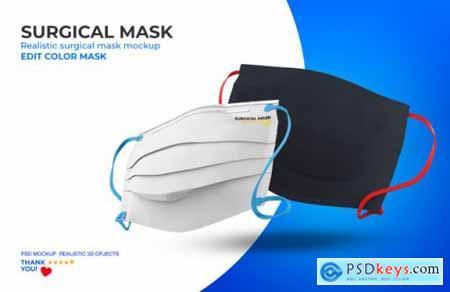 Surgical mask mockup 4