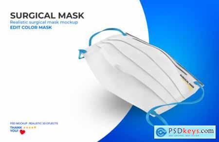 Surgical mask mockup 3
