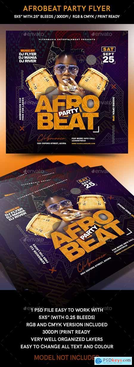 Afrobeat Party Flyer 24053012