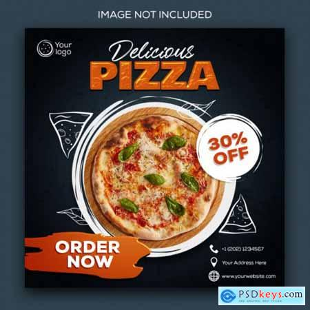 Food menu promotion social media instagram post banner template762