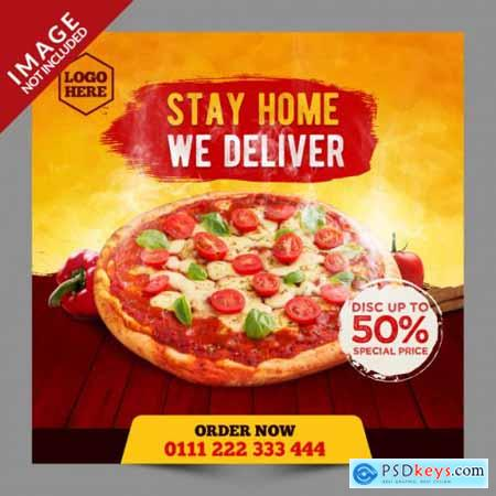 Food menu promotion social media instagram post banner template