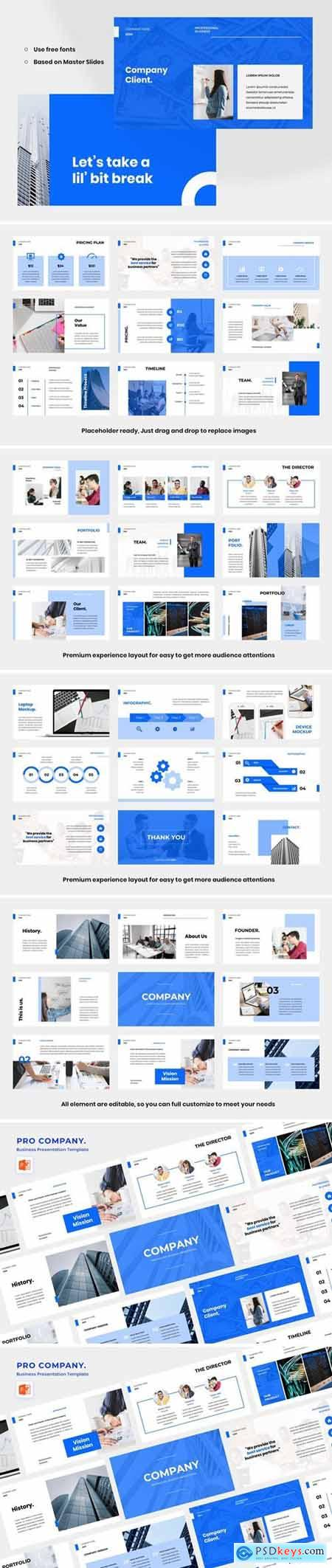 Pro Company Powerpoint, Keynote and Google Slides Templates