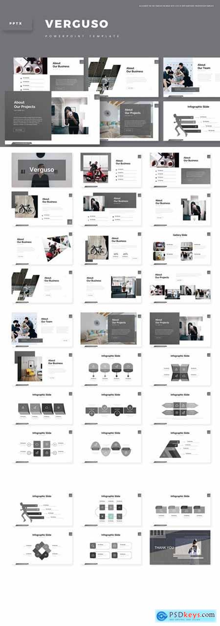 Verguso Powerpoint, Keynote and Google Slides Templates