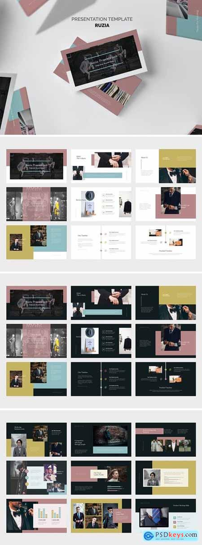 Ruzia - Luxury Fashion Powerpoint, Keynote and Google Slides Templates