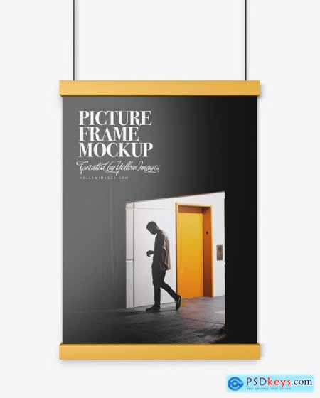 Glossy Picture Frame Mockup 56562