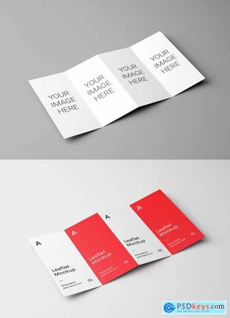 Four-Fold Brochure Mockup 332733628
