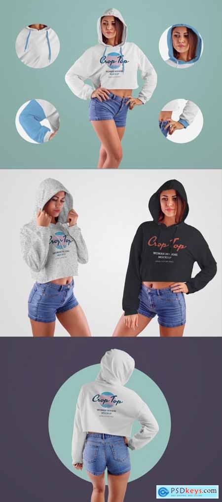 4 Cropped Sweatshirt Mockups 332487913