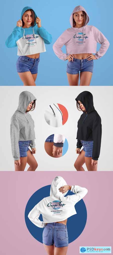 4 Cropped Sweatshirt Mockups 332483558