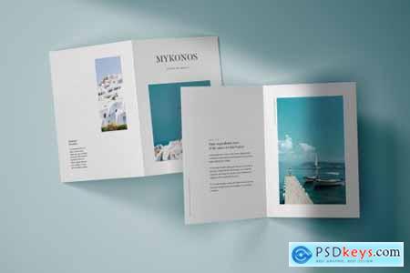 Vertical Bifold Brochure Mockup Set 4805439