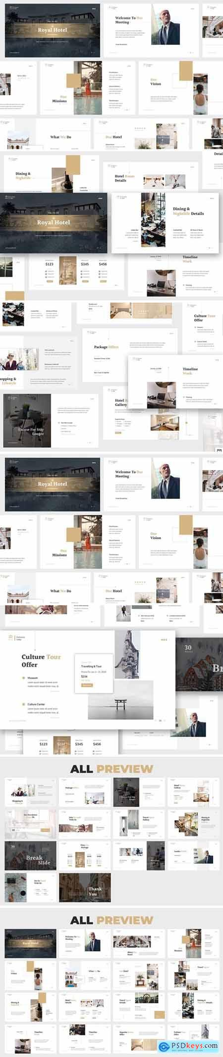 Hotel Powerpoint, Keynote and Google Slides Templates