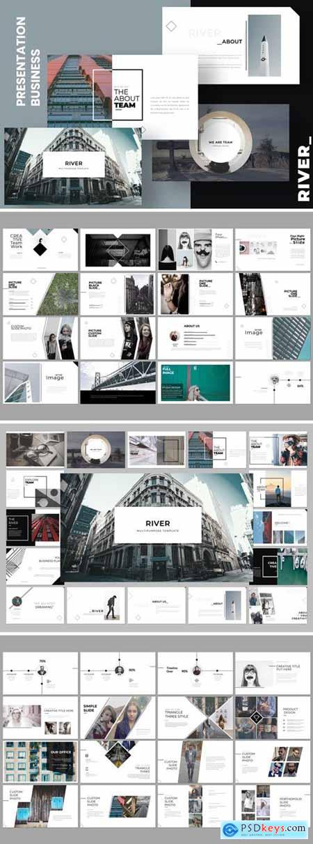 River Creative Powerpoint, Keynote and Google Slides Templates