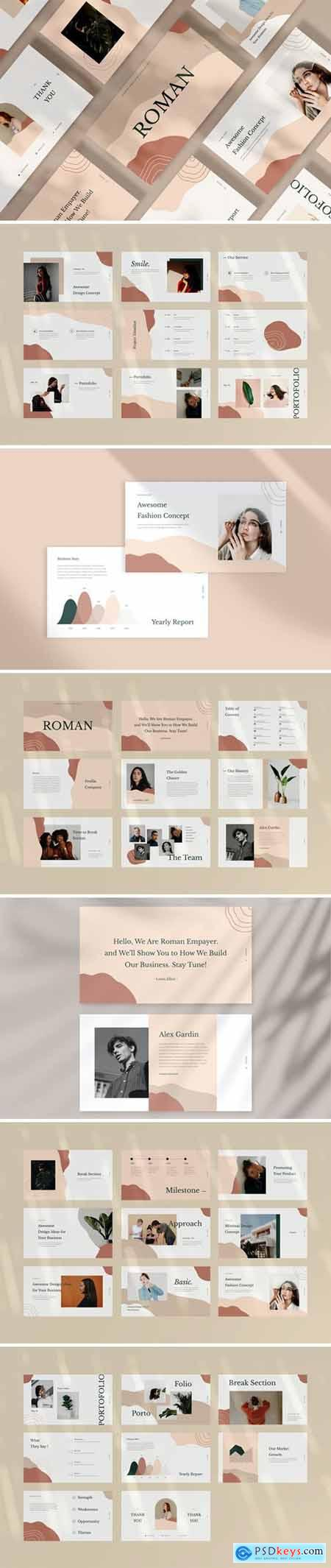 Roman Powerpoint, Keynote and Google Slides Templates