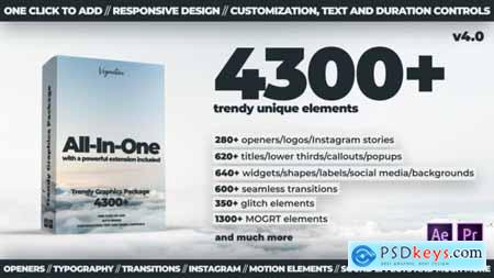 TG Library 4300+ Motion Graphics Elements V4 24321544