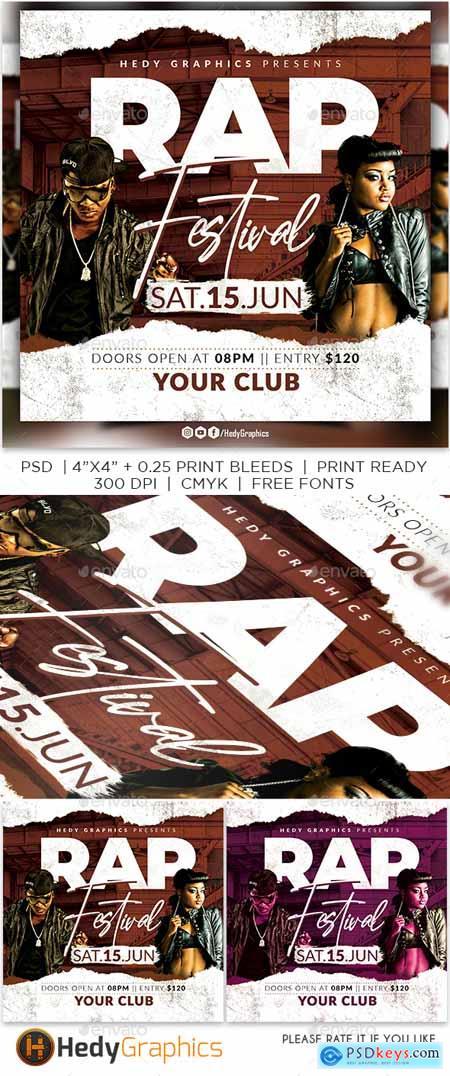 Rap Festival Flyer 24218189
