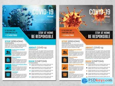 COVID-19 Flyer Layout 339226204