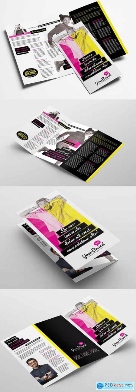 Modern Trifold Brochure Layout 338901676