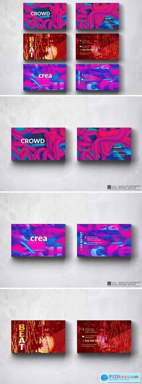 Creative Multipurpose Business Card Design Set WY4AU5N