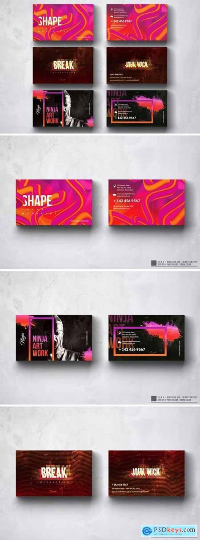 Creative Multipurpose Business Card Design Set 5EYLQSJ