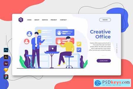 Creative Office - Web & Mobile Landing Page